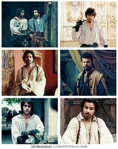 The Musketeers + puffy shirts & fuzzy chests