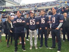 The Chicago Blackhawks are in attendance for the Chicago Bears-Oakland Raiders game. Chicago Blackhawks, Chicago Bears, Bears Game, Nfl Championships, Soldier Field, Football Hall Of Fame, Football Conference, Patrick Kane, Games Today