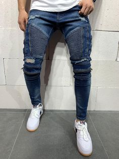 High Jeans, Jeans Fit, Jeans Pants, Ripped Jeans Men, Skinny Jeans, Streetwear Jeans, Streetwear Fashion, Rider Jeans, Skinny Fit