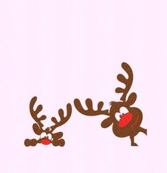 Christmas Reindeer set SVG,EPS Png DXF,digital download files for Silhouette Cricut, vector Clip Art graphics Vinyl Cutting Machines by…