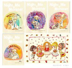 original characoters postcards