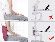 If you sit a lot, back support pillows can be used to reduce your risk of back pain. These days, lumbar support pillows are commonly recommended by backcare professionals, and several doctors have even designed and produced their own range. #backpain #lowerbackpain #posture #exercise #ergonomics #health #chronic #sitting