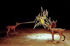 約翰·埃斯皮諾薩的電動動物雕塑