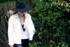 .Beautiful Wide Brimmed Felt Hat.