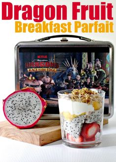 Looking for a simple breakfast idea? How about this Dragon Fruit Parfait in honor of Netflix new series Dragons: Race to the Edge #StreamTeam ad