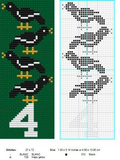 4 Calling Birds by ~NevaSirenda on deviantART 12 Days of Christmas cross stitch