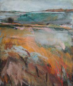 Original artwork by British artist Janine Baldwin. Pastel Landscape, Landscape Artwork, Abstract Landscape Painting, Abstract Watercolor, Watercolor Paintings, Contemporary Landscape, Acrylic Art, Abstract Paintings, Abstract Art