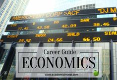 Economics Career Guide- What to do with a degree in Economics - Business Degree  - Arts Degree - #gethired