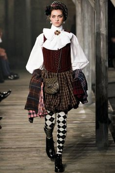 CHANEL Metiers d'Art show in Scotland  mix patterns & textures…tweed, plaid, wool, tartans, prints