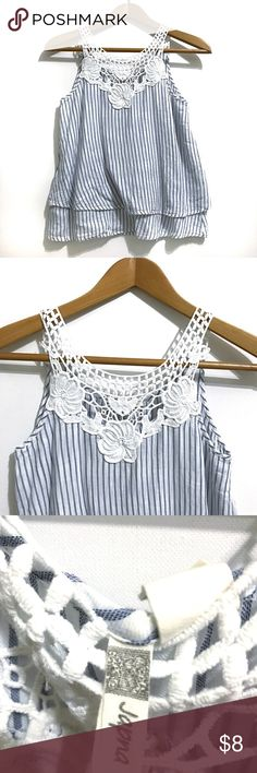 Japna Blue & White Blouse True to size. Smoke me free home. No inside pets. Good used condition. japna Tops Tank Tops
