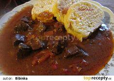 Balkánský guláš z vepřového srdce Crockpot, Beef, Food, Red Peppers, Meat, Slow Cooker, Essen, Meals, Crock Pot