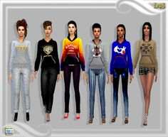 Hoodies at Dreaming 4 Sims via Sims 4 Updates