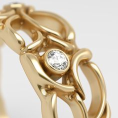 Modeling and visualization of gold rings on Behance
