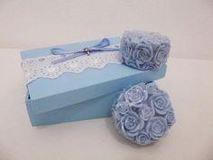 Caixa e sabonetes artesanais Rosa de Provence