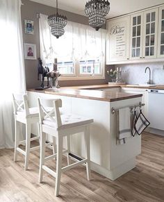 New Kitchen Decor Country Chic Light Fixtures Ideas Home Decor Kitchen, New Kitchen, Home Kitchens, Home Interior, Kitchen Interior, Interior Livingroom, Küchen Design, Design Ideas, Modern Kitchen Design