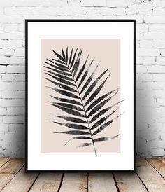 Palm lassen print nordic Design Rosa Kunst Wohn-Dekor von Wallzilla