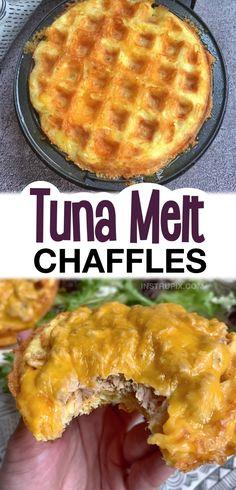 Tuna Metl Chaffles -- If you're looking for quick and easy chaffle recipes, you are in for a real treat! Chaffles are an amazing low carb replacement for waffles, sandwich bread and more. I've rounded up the best simple chaffle recipes, everything from sweet crispy breakfast waffles to savory sandwich bread. Most of these keto recipes are made with almond flour as I prefer it over coconut flour. These low carb chaffle recipes only take a few minutes to make in your mini waffle maker! Mini Waffle Recipe, Waffle Maker Recipes, Breakfast Waffles, Savory Waffles, Diet Breakfast, Breakfast Recipes, Low Carb Recipes, Snack Recipes, Dinner Recipes