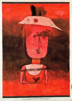 Retrato de la señora P. en el sur. 1924. acuarela y dibujo de óleo transferido sobre papel con borde de gouache gris sobre aglomerado. 42.6 x 31.4 cm. Colección Peggy Guggenheim.