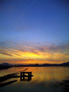 Sunset & Imazu Tideland (2012/09/20/18:20) #1