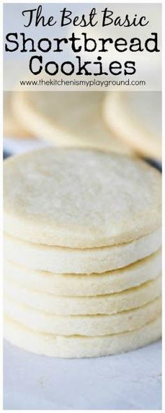 Basic Rolled Shortbread Cookies Recipe ~ tender, rich, buttery-flavored cookies that stand great just as they are, or provide a wonderful canvas for added embellishments like a dip in chocolate or smear of frosting.  #shortbread #cookies #Christmas www.thekitchenismyplayground.com