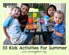 List off 55 Things To Do with Children During Summer
