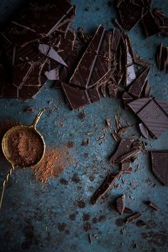 Dark chocolate table