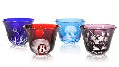 Edo Kiriko sake glasses