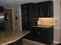 Black Distressed Kitchen Cabinets distressed kitchen cabinets | to create distressed black kitchen