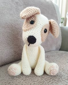 Amigurumi Dog Free Pattern – Free Amigurumi Patterns The Effective Pictures We Offer You About Amigu Crochet Teddy, Crochet Bear, Cute Crochet, Crochet Animals, Crochet Crafts, Crochet Dolls, Crochet Projects, Knitting Patterns Free Dog, Crochet Dog Patterns