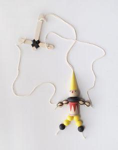 DIY wooden bead marionette   KIDS CRAFT CAMP