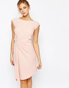 Closet | Closet Midi Dress with Cap Sleeve and Gathers at ASOS