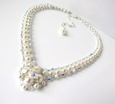 Wedding Necklace Bridal Jewelry Pearl Bridal by MelJoyCreations