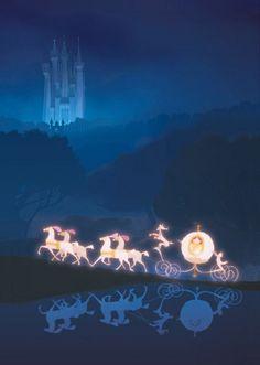 Modern fairytale / karen cox / Cinderella. cinderella rushing to the ball in her dream carriage