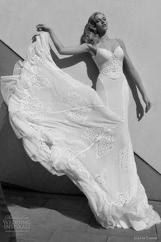 galia lahav bridal 2012 wedding dresses Spaghetti strap gown with beaded detail on the bodice.