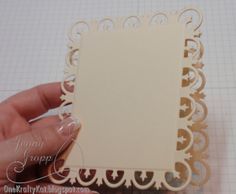 How to make a card base by using a die cut frame