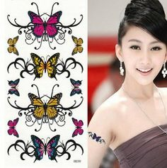 Taobaopit Sexy Butterflies Temporary Tattoo Paper Sticker 10 Sheets Per Pack-Unisex by Taobaopit. $5.99. * 100% waterproof and can last up to 7 days.. * Recommended Ages 9 to adult. WARNING: CHOKING HAZARD -- Small parts. Not for children under 3 yrs.. * Looks real & seamless. * Easy on and off, they can be removed with baby oil or rubbing alcohol.. * Unisex and one size fits most.. Gender : Unisex Dimensions : 10cm*17cm. Save 62% Off!