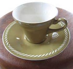 Retro Scandinavian: Sissel mokka-kopper av Figgjo Flint Stavanger, Ragnar, China Porcelain, Scandinavian Design, Tea Time, Stoneware, Addiction, Tea Cups, Teal