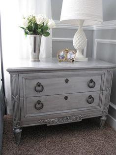 Gray wash nightstand