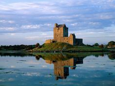 Dunguaire castle on the banks of Galway Bay