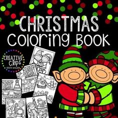 Merry Christmas FREEBIE! Enjoy this free Christmas Coloring Book from Creative Clips Clipart!