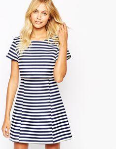Fashion Union Crop Dress In Stripe