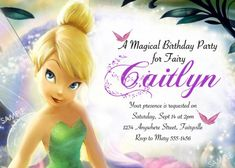 Tinkerbell invitation templates free download free tinkerbell tinkerbell invitation for disney fairies by poshberryparties stopboris Choice Image