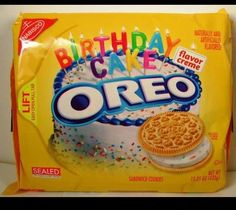 Oreo Birthday Cake Flavor Creme Cookies, Limited Edition 15.25oz vanilla on eBay!