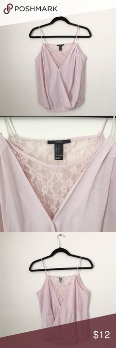 Forever 21 Lace Top Forever 21 light pink lace cami blouse. Good condition. Forever 21 Tops Blouses