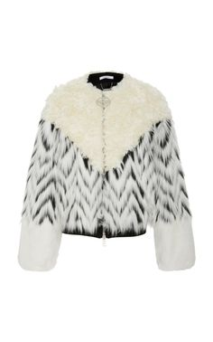 Shop Paneled Shearling And Faux Fur Bomber Jacket . Designed with high-impact volume, Givenchy's bomber jacket is made from zigzag patterned faux-fur with plush shearling panels. Fur Bomber, Bomber Jacket, Designer Trench Coats, Winter Must Haves, Autumn Winter Fashion, Fall Winter, Fashion Design, Fashion Trends, My Style
