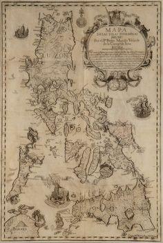 Las Islas Filipinas (Source: Three Hundred Years of Philippine Maps Philippine Mythology, Philippine Map, Vintage Maps, Antique Maps, Jose Rizal, Philippines Culture, Map Globe, Old Maps, City Maps