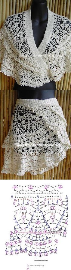 Crochet; the designs are kind of cool, but I personally don't really like that outfit.