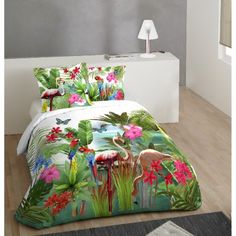 linge de lit fleurs d 39 hibiscus housses de couette. Black Bedroom Furniture Sets. Home Design Ideas