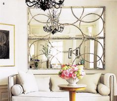 Loving the idea of horizontal mirrors as opposed to one big mirror.