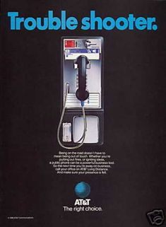 Pay Telephone Phone Business Tool At&T (1985)